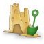 sand castle icon