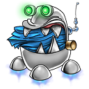 robot trash full icon