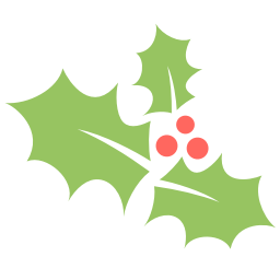 Holly leaf icon