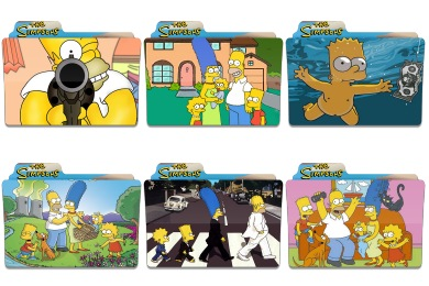 Simpsons Folder Icons