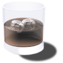 X cola on the rocks icon