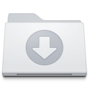Folder Downloads White icon