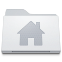 Folder Home Alternate White icon