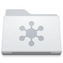 Folder Server White icon