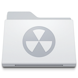 Folder Burnable White icon