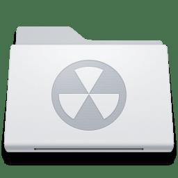 Folder Burnable White icon