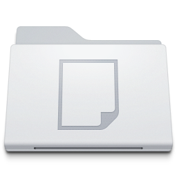 Folder Documents White icon