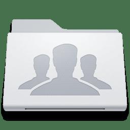 Folder Group White icon