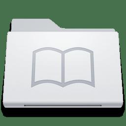 Folder Library White icon