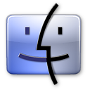 Finder aqua icon