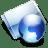 Online aqua icon