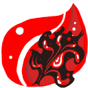 Folder Red burn icon
