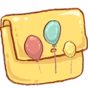 Hp folder balloons icon