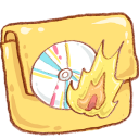 Hp-folder-burn icon