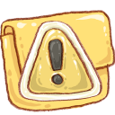 Hp-folder-caution icon
