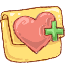 hp folder favheart icon