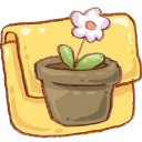 hp folder flowerpot icon