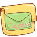 hp folder mail green icon