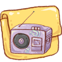 hp folder music icon