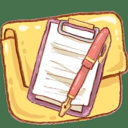 Hp folder notepad icon