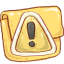 hp folder caution icon