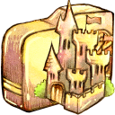 folder castle icon