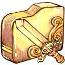 folder sword icon