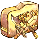 Folder swordaxe icon