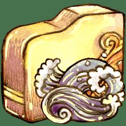 folder ele water icon