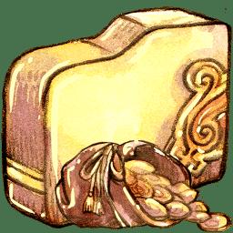 folder gold icon