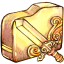 Folder sword icon