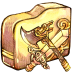Folder-swordaxe icon