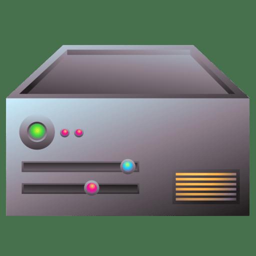 Server aluminum icon