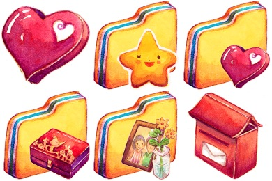 Summer Love Cicadas Icons