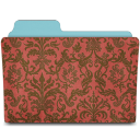Folder damask crimson icon