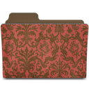 Folder damask crimsony icon