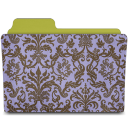 folder damask hyacinth icon