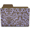 folder damask hyacinthy icon