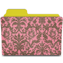 folder damask rose icon