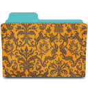 Folder-damask-tangerine icon