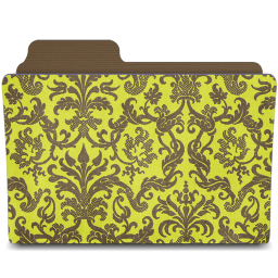 folder damask chartreusey icon
