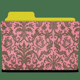 folder damask rose icon