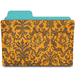 folder damask tangerine icon