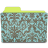 Folder-damask-turquoise icon