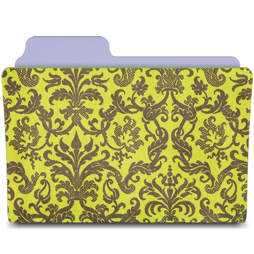folder damask chartreuse icon