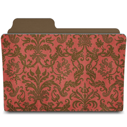 Folder-damask-crimsony icon