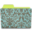 folder damask turquoise icon
