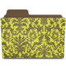 Folder-damask-chartreusey icon
