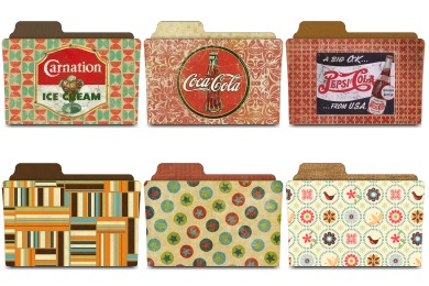 Vintage Folders Icons
