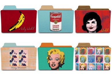 Warhol Folders Icons